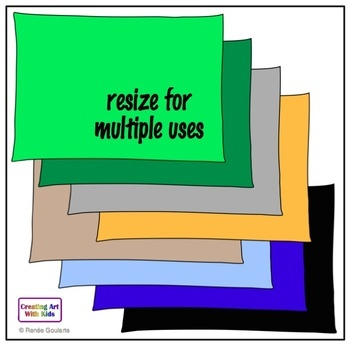Whimsical Rectangle Doodle Frames