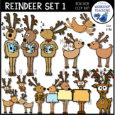 Reindeer Christmas Clip Art - Whimsy Workshop Teaching