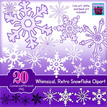 Snowflake Clipart - purple and lavendar