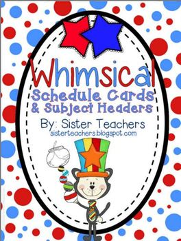 Whimsical Schedule and Subject Headers