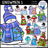 Snowmen 1 Clip Art - Whimsy Workshop Teaching