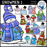 Snowmen Clip Art - Whimsy Workshop Teaching