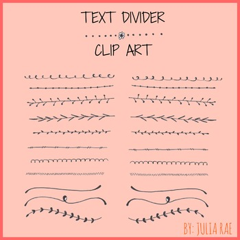 Whimsical Spring Text Dividers - Digital Clip Art