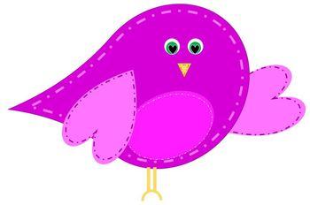 Whimsical Valentine Birds and Birdhouse
