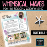 Whimsical Waves Welcome & Meet the Teacher Letter