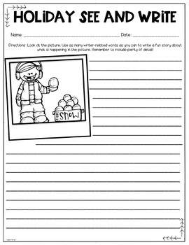 Whimsical Winter See and Write: No PREP Writing Activities