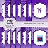 Purple and Lavendar Winter Digital Papers