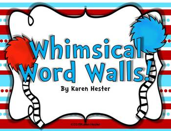 Word Walls: Whimsical Word Walls!