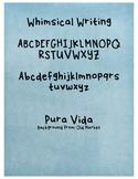 Whimsical Writing Font