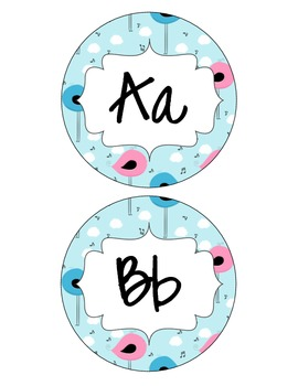 Whimsy Bird Word Wall Letters