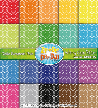 Whimsy Chain Pattern Digital Scrapbook Pack — Basic Bundle