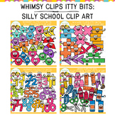 Whimsy Clips Itty Bits: Silly School Clip Art Bundle