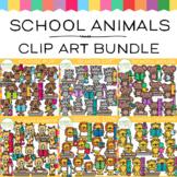 Whimsy Clips School Animals Clip Art  Bundle