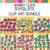 Whimsy Clips School Bits Clip Art GROWING BUNDLE