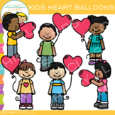 Free Kids Heart Balloons Clip Art