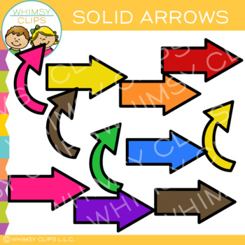 Free Set Of Solid Arrows