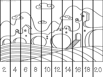 Whimsy Counting Puzzles Count by 2's, 5's, and 10's