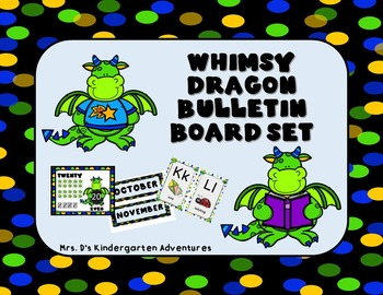 Whimsy Dragon Bulletin Board Set