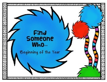 Suess Whimsy Find Someone Who