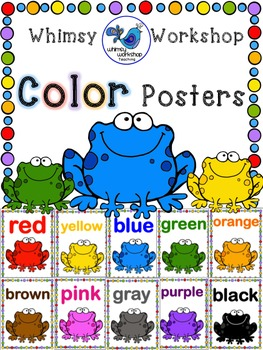 Rainforest Frog Color Posters (Classroom Decor) Whimsy Wor