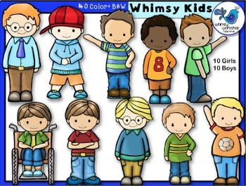 Whimsy Kids Clip Art Bundle