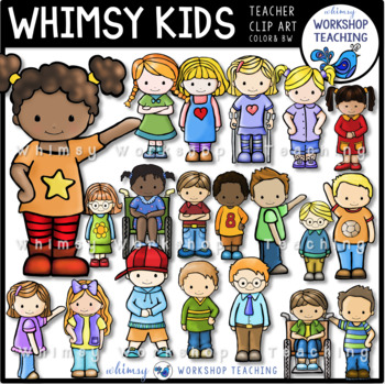 Whimsy Kids Clip Art (20 Kid Bundle) Whimsy Workshop Teaching