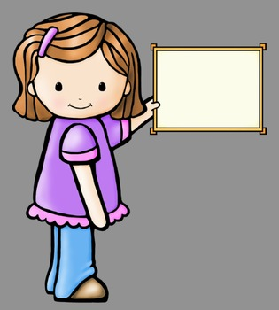 Whimsy Kids With Signs Clip Art (28 graphics) Whimsy Workshop Teaching