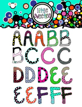 Letters/Alphabet/Font Bright- Whimsy Mix-n-Match
