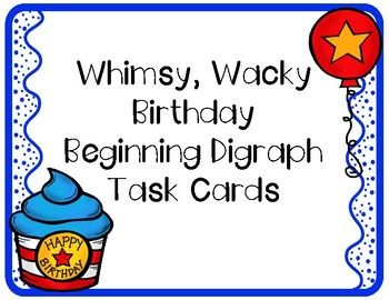 #presidentsale Whimsy Wacky Birthday Digraph Activities