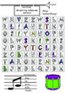 Whimsy Word Search Coloring Book, Musical, Letters and Pictograms