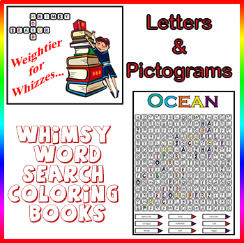Word Search Coloring Puzzles for Wizzes, Challenging & Creative