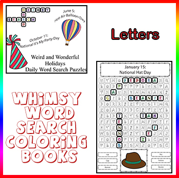 Whimsy Word Search Coloring Books: Weird and Wonderful ...