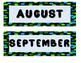 Whimsy Zebra Calendar Set