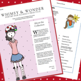 Whimsy and Wonder Poetry for Fluency Practice and Nouns Ac