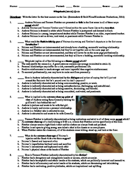 Whiplash Film (2014) 15-Question Multiple Choice Quiz