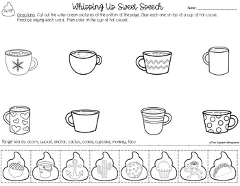 Whipping Up Sweet Speech: Winter Articulation