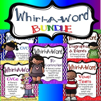 Whirl a Word Literacy Center BUNDLE