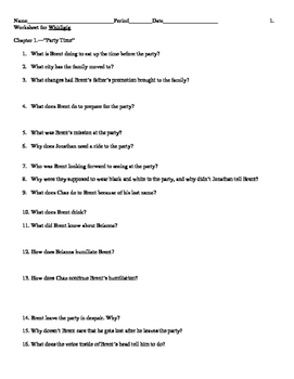 Whirligig Study Guide Questions with Answers