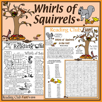 Whirls of Squirrels Packet: Facts, Types, Behaviors and Nutty Fun