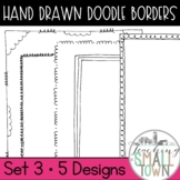 18 Doodle Border Frames // Mini Set #3 //  Personal and Commercial Use