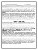 Whiskey Rebellion Worksheet with Answer Key
