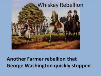 Whiskey vs Shays' Rebellion--Reading Analysis, Questions and PowerPoint