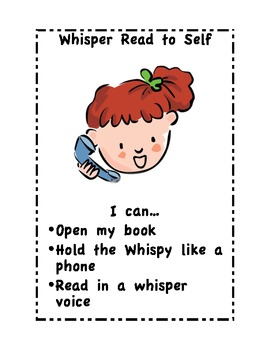 Whisper Read to Self Center sign