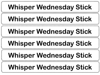 Whisper Wednesday Sticks