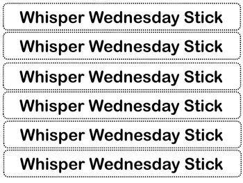 Whisper Wednesday Sticks