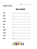 Whistle For Willie - Journeys 1st Grade- ABC Order