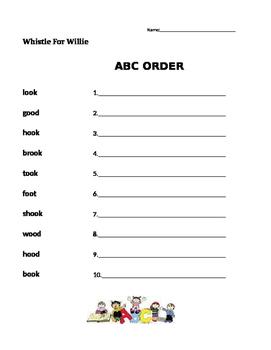 Whistle For Willie - Journeys 1st Grade- ABC Order