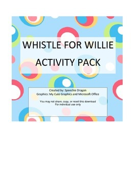 Whistle for Willie Activity Pack
