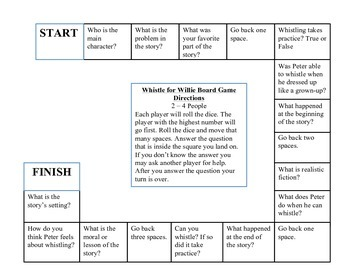 Whistle for Willie Game Board
