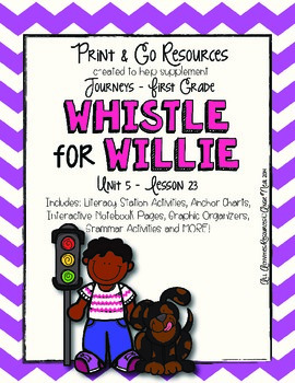 Whistle for Willie - Journeys First Grade Print and Go